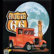 Farbiges Motiv: Route 66