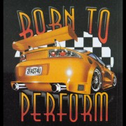 Farbiges Motiv: Born to Perform