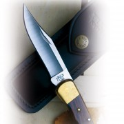 Buck Messer  - Folding Hunter Finger Grooved - 110