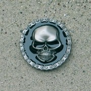 Gürtelschnalle / Buckle - Skull with chain