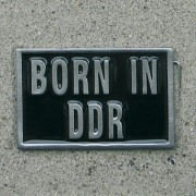 Gürtelschnalle / Buckle - BORN IN DDR