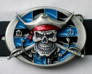 G�rtelschnalle / Buckle - Pirate Skull